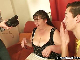 Big boobs mature mom threesome