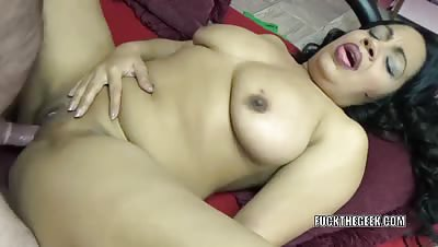 Latina MILF Dolly Naught takes a dick in her plump pussy