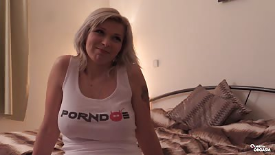 Quest For Orgasm – European solo porn with big tits blondie