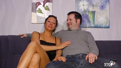 SexTapeGermany – Brunette babe gets pussy stuffed in cowgirl