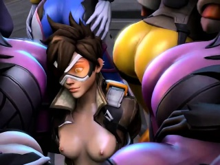 Overwatch Group Sex with The Heroes