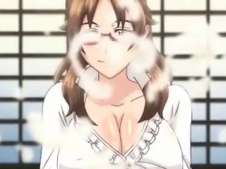 Big titted anime girl riding dong