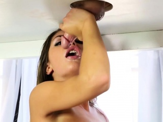 Busty masseuse sucking