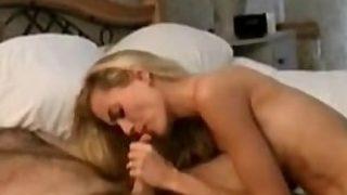 Blonde Hottie Dirty Talking While Handjob
