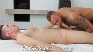 HD ManRoyale – Hot tattooed guy sucks a cock hard