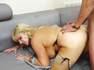 Mature hard fucking and swallow cum